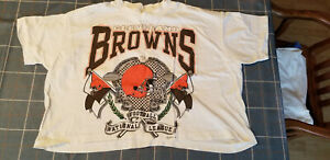 CLEVELAND BROWNS MID-RIFF T-SHIRT ~ ONE SIZE FITS ALL - short sleeve~SCARCE!