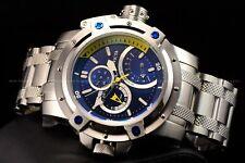 Invicta 52mm Retrograde Day Coalition Forces Silver Tone Blue Dial Chrono Watch