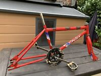 Raleigh Styler Old School Bmx Frame Forks Crank Etc Not Burner Hutch Redline GT