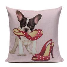 Boston Terrier B9 High Heels Polka Dots Cushion Pillow Cover Pet French Bulldog