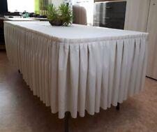 Tischhusse Tischrock Skirting Tischumrandung Tischverkleidung Tischdecke 1 Meter