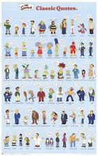 THE SIMPSONS ~ CLASSIC CHARACTER QUOTES 22x34 CARTOON POSTER Matt Groenig Homer