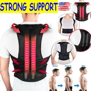 Back Posture Magnetic Shoulder Corrector Support Brace Belt Therapy Men Women xA