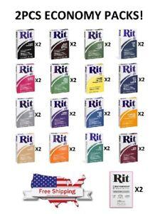Economic 2 Pack - Rit All-Purpose Fabric Dye Powder - CHOOSE COLOR - 1 1/8 oz