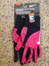NWT Women's Nike Dri Fit Tailwind Hot Pink Run Phone Logo Gloves $22 XS New!