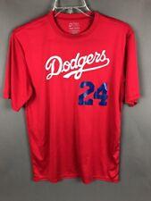 Dodgers Los Angeles  Baseball Red #24 Shirt Medium