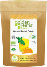 Golden Greens 100% Pure Organic Baobab Powder 100g, from Hand-Picked Fruit