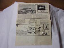 Revell  Assembly Instructions for Marlin Sport Fishing Boat Vintage Model Kit