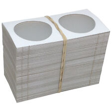 """100 2"""" x 2"""" MYLAR CARDBOARD FLIPS FOR COLLECTOR CASINO TOKENS - FREE SHIPPING *"""