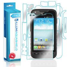 2x iLLumi AquaShield Front Screen + Back Protector for Samsung Galaxy Rugby Pro