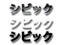 CIVIC (in Japanese) Liquid Chrome Effect Print Vinyl Decal HONDA JDM Car Sticker