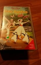 MARY POPPINS  JULIE ANDREWS AND DICK VAN DYKE - WALT DISNEY VHS VIDEO