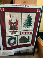 "Leslie Beck ""Northwoods Noel"" Christmas Cotton Quilt Panel Fabric OOP"