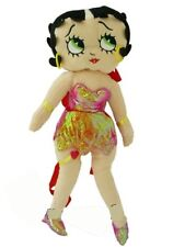"Betty Boop Plush Backpack in Pink Dress 16"" toy large Pillow Pal"