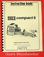 EMCO Compact 5 Metal Lathe Instruction Manual 0292