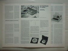 3/1976 ARTICLE 6 PAGES CRYPTOLOGIE LE SYSTEME INDECRYPTABLE HAGELIN CLE ENIGMA