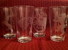 Game Of Thrones glasses,Set of 4 Glasses,ps3 video game,TV Series,