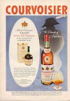 1953 Courvoisier PRINT AD Cognac Vintage Brandy of Napoleon Frame this great ad!