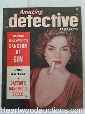 """""""Amazing Detective"""" March 1951 Woman Smoking Cover"""