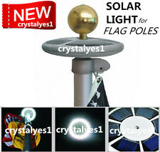 SunnyTech Upgraded Solar Flagpole Flag Pole Light 20LED Top Mount yard Garden