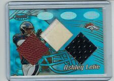 2002 BOWMAN'S BEST ASHLEY LELIE #104 RC TRIPLE RELIC FOOTBALL JERSEY PATCH 98/99