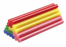 Mannesmann Adhesive Hot Glue Gun Sticks <> 20pcs <> 7 x 100mm Coloured GS TUV