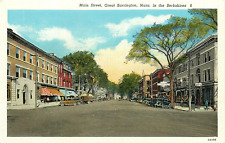 GREAT BARRINGTON MA MAIN STREET BERKSHIRES POSTCARD