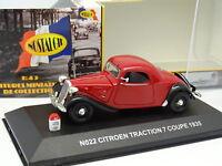 Nostalgie 1/43 - Citroen Traction 7 Coupe 1935 Rouge