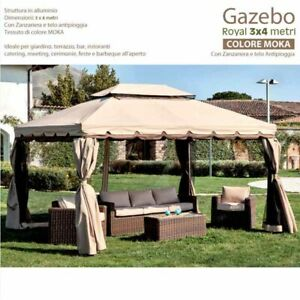 Gazebo Royal 4 x 3 MT Complete Sheeting And Mosquito Nets - Disp. IN 2 Colours