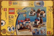 Lego 3816 Spongebob Box Only - Nickelodeon - No Bricks or Manual - Used