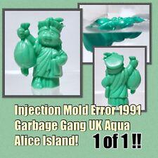 Vintage 1991 Topps UK AQUA ALICE ISLAND Garbage Gang CHEAP TOY pail kids ERROR!