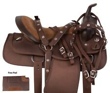 15 16 17 18 WESTERN BARREL RACING SADDLE HORSE BROWN SHOW TRAIL TACK PAD USED