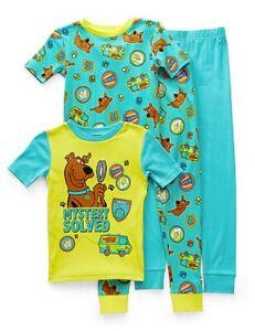 NWT 8 girls boys scooby doo 4pc pajamas set lot birthdays easter spring fall lot