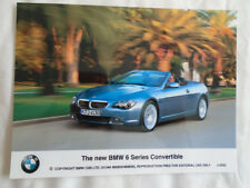 BMW 6 Series Convertible press photo Dec 2003