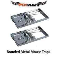 2x Reutilizable Metal mouse traps Cebo Ratones alimañas ROEDORES PEST CONTROL MOUSE TRAPS