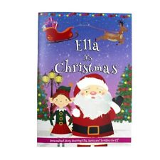 Personalised Girls It's Christmas Story Book Santa Elf Magic Softback Gift Idea