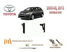 2005-2008, 2013 TOYOTA MATRIX DASH INSTALL KIT for CAR STEREO, with WIRE HARNESS