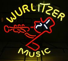 "New Wurlitzer Music Bar Neon Light Sign 19""x15"""