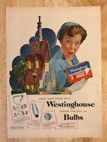 Original Print Ad 1951 WESTINGHOUSE Today's Big Buy in Bulbs Vintage ARtwork
