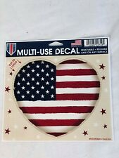 "LSU Wincraft American Flag Heart Multi Use Patriotic Decal  4.5"" x 5.75"""