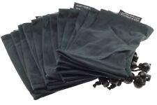 12ea Sunglass Bead Lock Microfiber Bag Soft Cleaning Case 9cm X 18cm Black