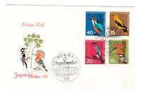 BRD FDC Ersttagsbrief 1963 Vögel  Mi.Nr.401-04