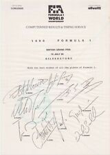 More details for formula one 1990 computerised results and timing service driver autograph prints
