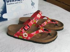 NEW Papillio By Birkenstock Ladies Red Ladybird Mules Sandals UK Size 3.5 EU 36