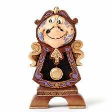 New JIM SHORE DISNEY Figurine BEAUTY AND THE BEAST Clock Statue COGSWORTH Quilt