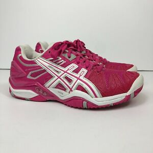 ASICS Gel Resolution 5 Women's Size US 7 Athletic Tennis Shoes Pink/White E350Y
