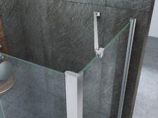 Staffa di sostegno angolare 45° cromata per box doccia spessore cristallo 8mm