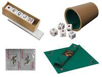Kit completo Baraja de Cartas Naipes Tapete Cubilete y Dados Poker Puntos 203c