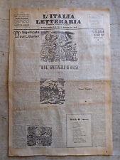 L'ITALIA LETTERARIA n.18 6 maggio 1934 Significato dei Littoriali,
