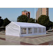 33'x20' Heavy Duty Outdoor Carport Canopy Wedding Party Tent Gazebo Garage White